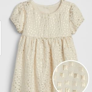 NWT Baby GAP Metallic Jacquard Dress